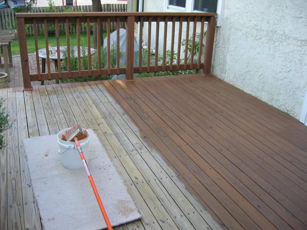 wood deck staining in Needham