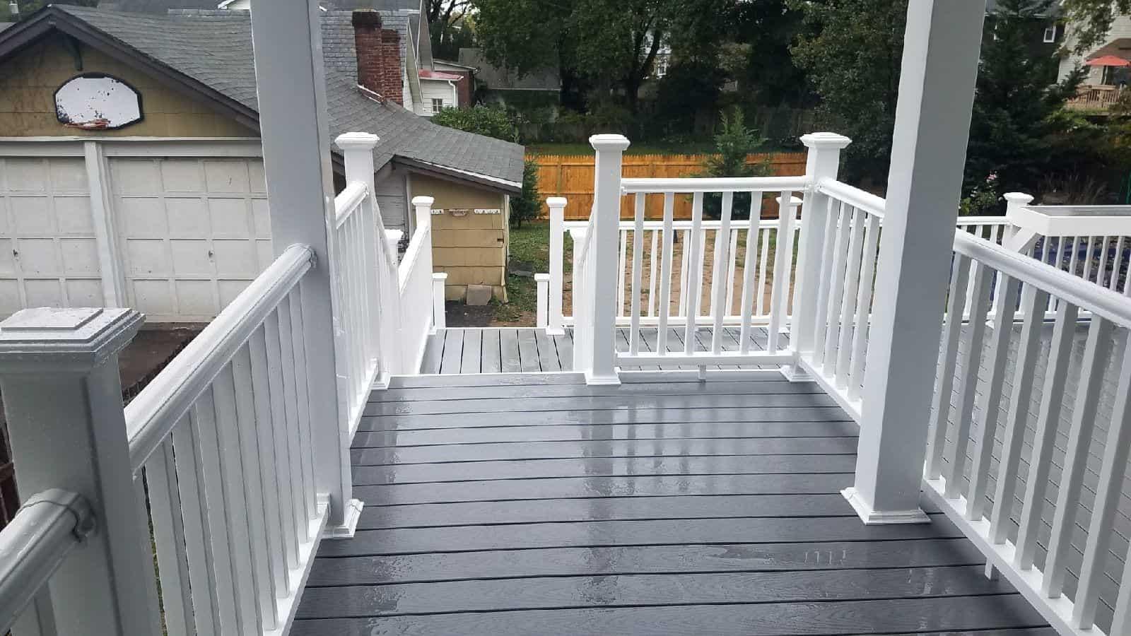 deck renovation project in Needham