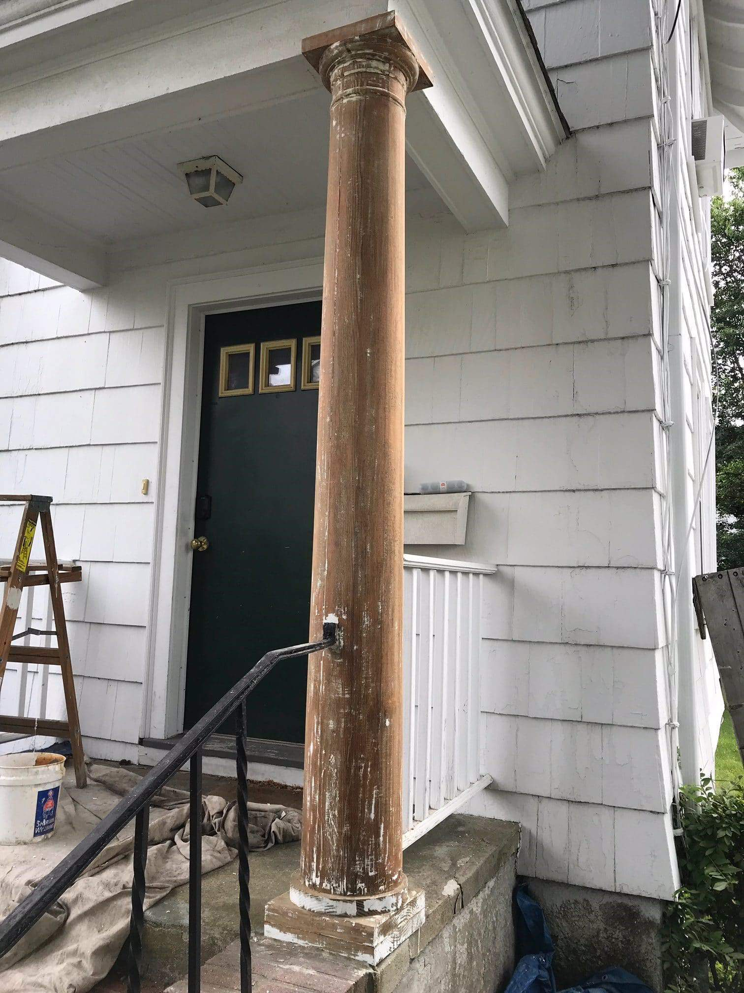 outdoor wood paint removal