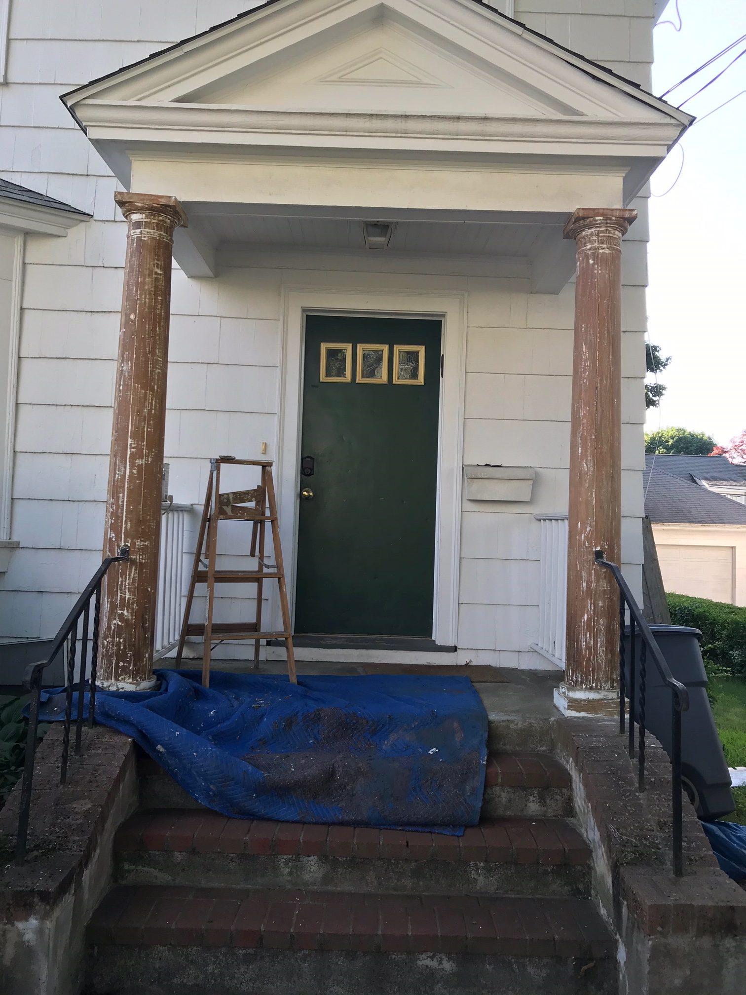front porch columns outdoor wood paint