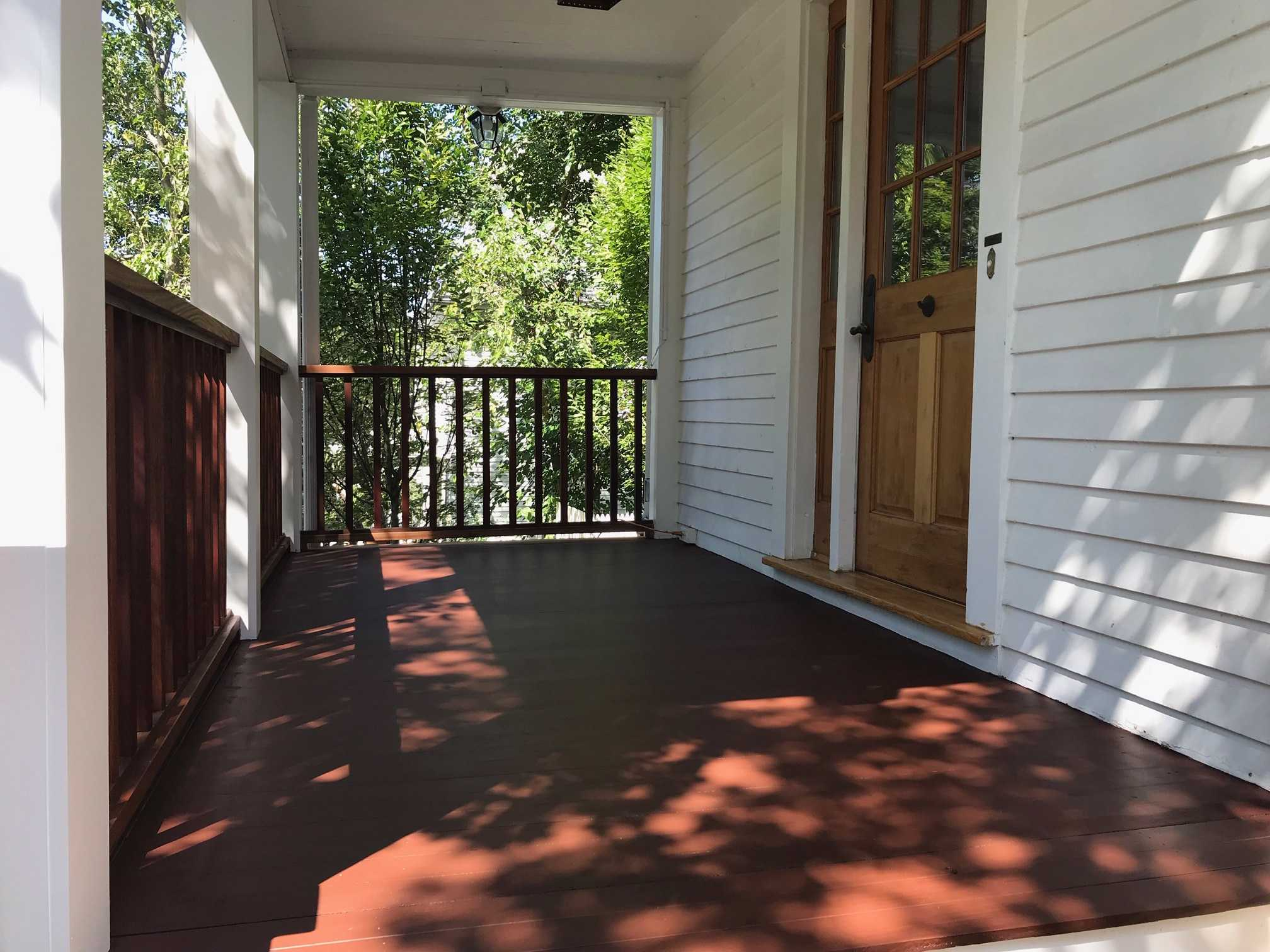 stained deck porch
