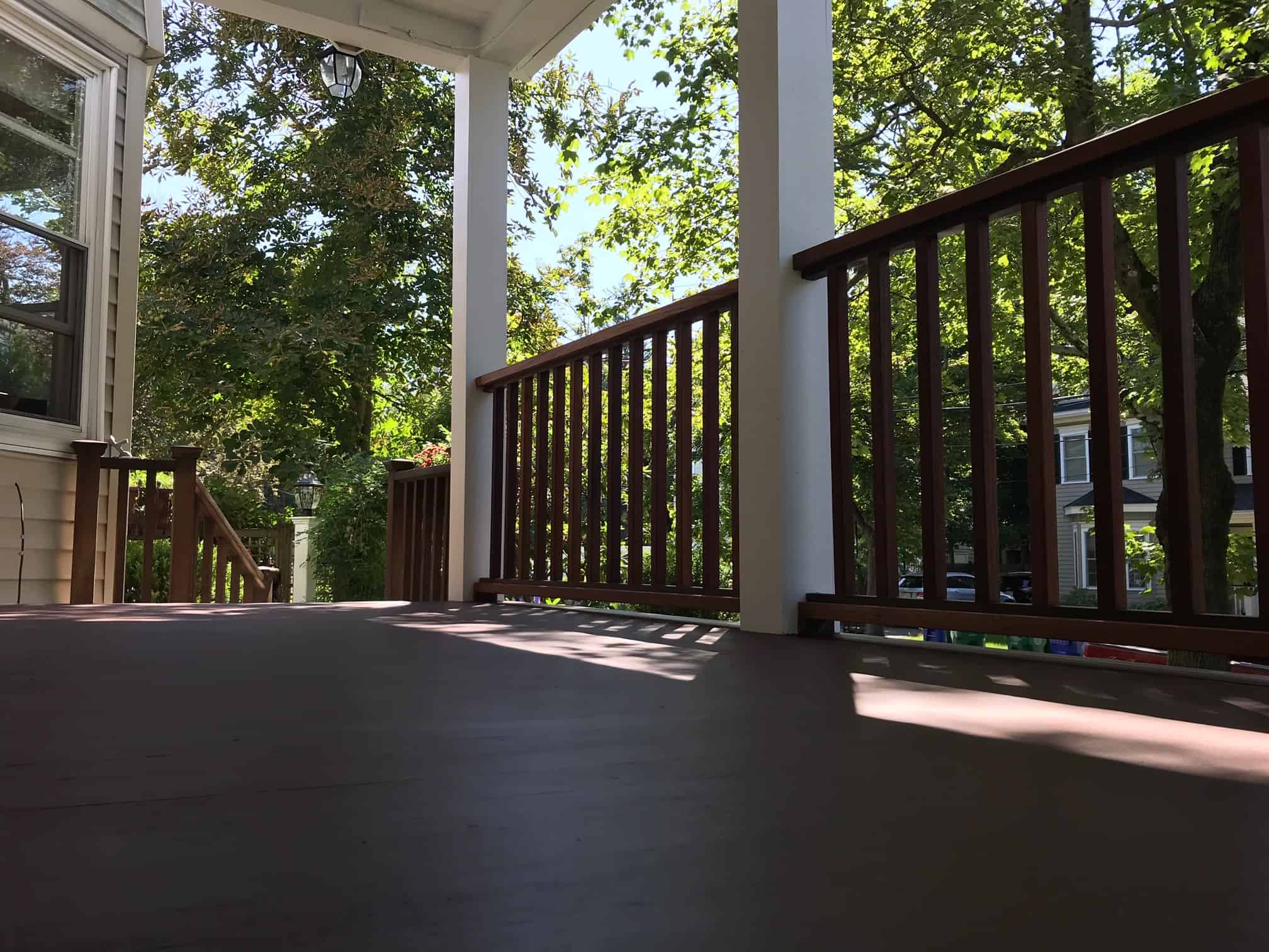 deck repair finishing project