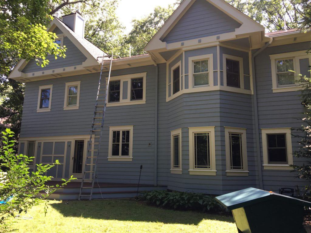 exterior residential painting brookline
