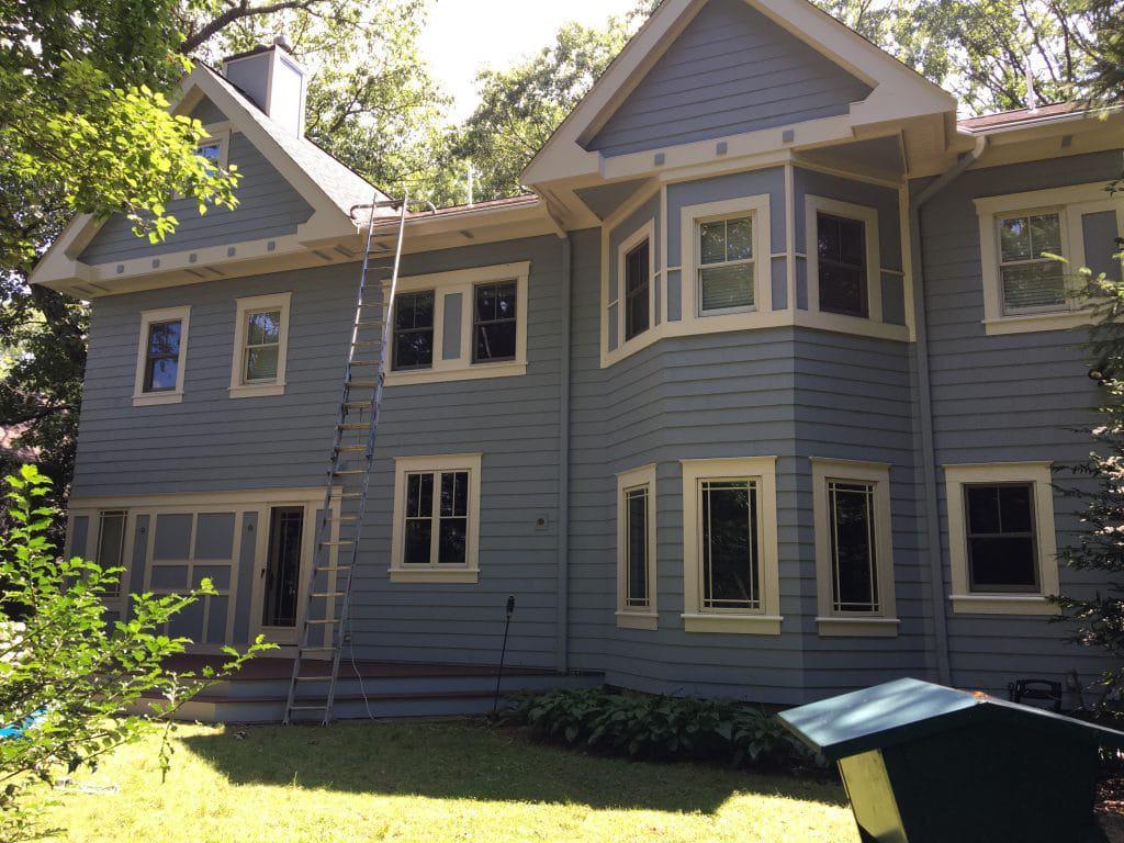 exterior residential painting brookline
