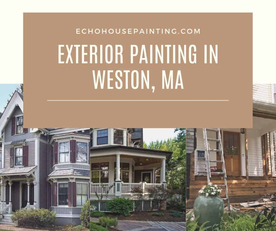 exterior house painting in weston